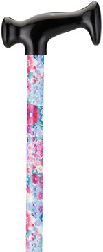 Print Cane - Purple & Pink Flowers