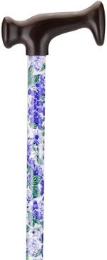 Print Cane - Lilacs & Green Leaves