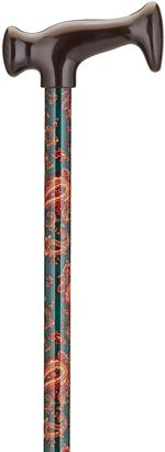 Print Cane - Paisley on Green