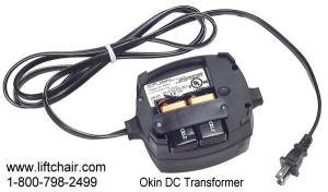 Okin Power Supply Deltadrive / Betadrive / Okidrive. Two Prong, Compartment for Two 9V Batteries On Bottom