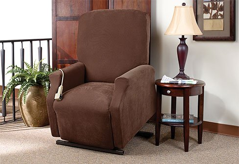 Slip Cover For Lift Chair Chocolate Color