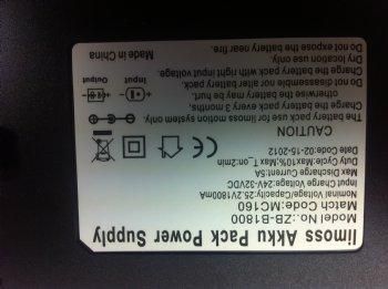 Limoss Akku Pack Power Supply Zb B1800 Mc160