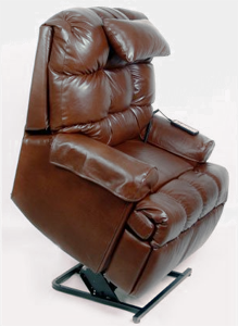 Med-Lift 5555 Full Sleeper Lift Chair in Top Grain Leather