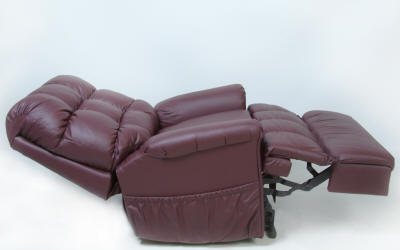 Full Sleeper Lift Chair, Infinite Positions, Two Motors, One For Back. One For Legrest.