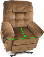 Measure the chair seat depth.