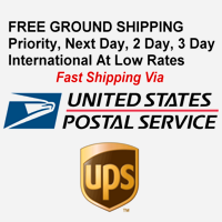 FREE Ground Shipping - Priority, Next Day, 2-Day, 3-Day, International at low rates via UPS, USPS.